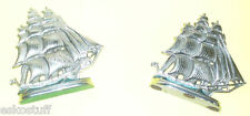 Pair of Metal F.A. Feyder Ship Bookends Great artwork! Nice See!