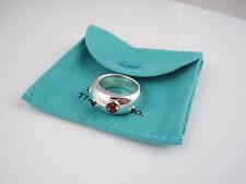 Tiffany & Co RARE Silver 18K Gold Etoile Gemstone Peridot Sapphire Ring Size 5