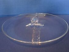Steuben Crystal Lloyd Atkins #8045 Round Canape Plate