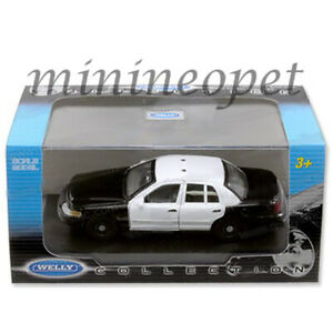 WELLY WE9762SHF-SWB FORD CROWN VICTORIA UNMARKED POLICE CAR 1/43 BLACK / WHITE