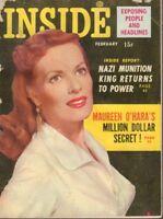 Inside February 1955 Maureen O'Hara Cheesecake Pin Up Digest 091318AME2