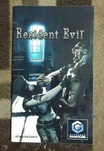 Manual ONLY Resident Evil Remake GameCube Instruction Booklet