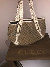 Authentic Gucci Pelham Boho Bag with White Braided Straps
