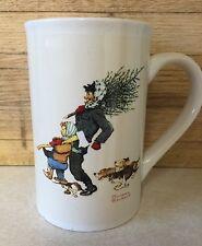Norman Rockwell : Bringing Home the Tree : Coffee Mug Snow Sledding
