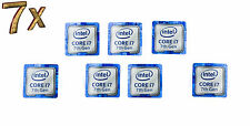 Intel Inside Core i7 Kaby Lake Sticker Aufkleber Blue 7 Stück pcs Label logo