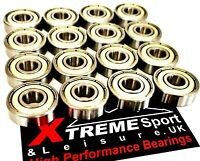 16 Pack CLASSIC 608 STAINLESS BEARINGS 100/% RUSTPROOF SKATEBOARD SCOOTER