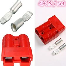 4pcs 50A 8AWG Battery Quick Connect Connector Plug Disconnect Winch Trailer