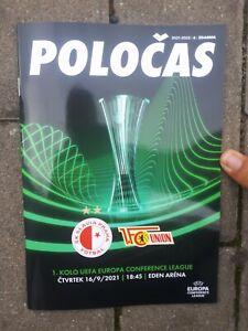 Programm Conference League  21/22 Slavia Prag  - 1.FC Union Berlin