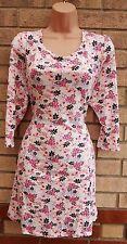 LABEL BE WHITE PINK MULTI TUNIC MINI BAGGY SHIFT VEST CAMI TOP OR MINI DRESS 18