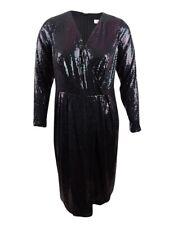 Calvin Klein Women's Plus Size Sequined Surplice Dress