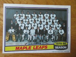 1979-80 TORONTO MAPLE LEAFS Topps Insert Team 7 In. x 5 In. Poster BORJE SALMING