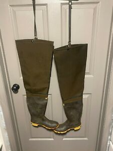 Vintage Cabela's Canvas Hip Waders Mens Size 9 Made in USA