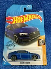 RARE Blue Audi RS 5 Coupe #2/5 HW Turbo, Hot Wheels #118/250, FAST SHIP IN BOX!