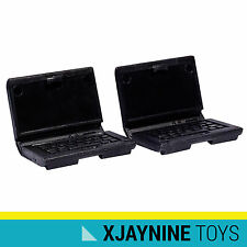GENUINE LEGO Minifig Accessory Black Computer Laptop Two Pack NEW SUPER RARE