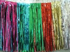 """Metallic Multi color Fringed Garland Valance Party decoration 10 ft long x 15"""""""