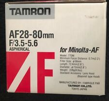 28-80mm Tamron AF  f/3.5-5.6 Aspherical Lens for Sony/Minolta Cameras New W/ Box