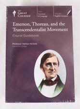 NEW Great Courses: Emerson, Thoreau, & Transcendentalist Movement, 12 CDs + Book