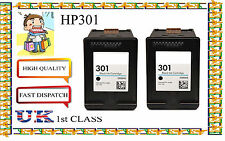 2 Remanufactured hp301 High Capacity& Quality Cartridges for HP Deskjet 1050A