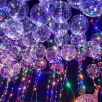 LED Heliumballon Luftballon mit Lichterkette bunt deko Hochzeit Strandparty