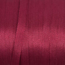 Red Silk Ribbon 100% Pure 4mm Embroidery - Dark Red 706 (Wine) 3 mtr