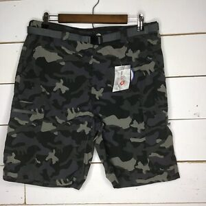 New Baleaf Mens Shorts Quickdry Cargo Outdoor Hiking Gray or Green, 34W, 38W