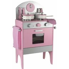 Kitchen Set -Wooden Imaginary Play Kitchen Set Including Accessories -Pink Color