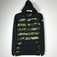 MEN'S NIKE DRI-FIT HOODIE BLACK /CAMO MILITARY AQ1140-010 SZ M NWT Pullover