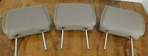04 - 09 Nissan Quest Third 3rd Row Rear Headrest Set of 3 Gray Leather