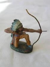 Hausser Elastolin Composition Indian Shooting Bow And Arrow: Pre Wwii /Germany
