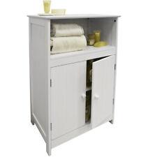 Agitador Lengua y Groove baño 2 puertas Armario de almacenaje - Blanco ip8334424