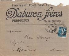 ENVELOPPE PERIGUEUX DABURON FRERES truffes et foies gras timbrée 1921