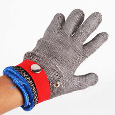Safety Cut Proof Stab Resistant Stainless Steel Metal Mesh Butcher Size L Glove