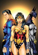 Superman, Wonder Woman, Batman A3 Poster Print YF546