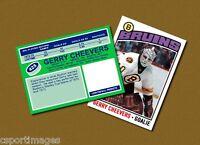 Gerry Cheevers - Boston Bruins - Custom Hockey Card  - 1975-76