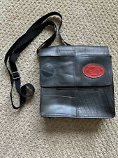 REVY Black Handmade Recycled Rubber Handbag Crossbody Purse