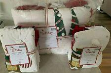 Pottery Barn Kids Merry Santa Full Queen Quilt 2 Euro shams Christmas jolly