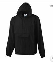 AUGUSTA size XL PACKABLE Half-Zip Pullover Windbreaker Rain Jacket 3130 Hood H20