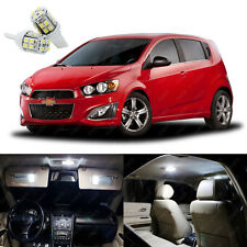 15 x Xenon White LED Interior Lights Package For Chevrolet Sonic 2012 - 2014
