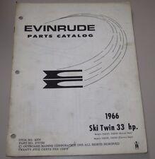 Parts Catalog Evinrude Ski Twin 33 HP Ersatzteilkatalog ET Katalog Stand 1966!