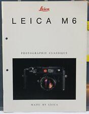 LEICA M6 Brochure / Dépliant