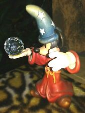 Mickey Sorcerer With Crystal Anri Limited Ed. Figurine, Hand Painted Carved,New