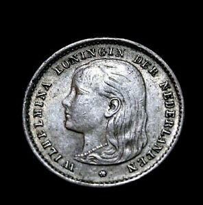 Netherlands: 1897 Netherlands 10 Cents Silver   54-183