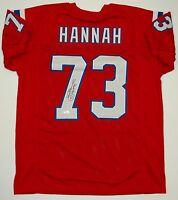 John Hannah Autographed Red Pro Style Jersey w/ HOF- JSA W Authenticated