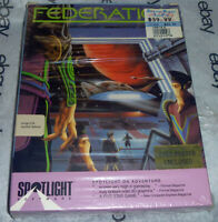 "Complete FEDERATION Cinemaware/Spotlight AMIGA Big Box Game 3.5"" disk w/ POSTER"