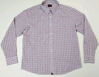 UNTUCKIT gingham plaid blue white pink Button Front Shirt Xl