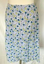 Adini 100% Cotton voile fully lined skirt 8 panels with piping to centre seams