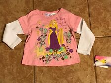 NWT Rapunzel Tangled Longsleeved T Shirt Top Pink Purple 2T
