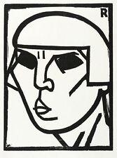 ANDRE ROUVEYRE-tête (tête) - Gravure sur bois 1920