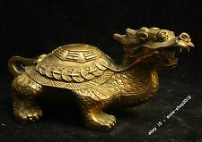 Chinese China Tibet Buddhism Temp Brass Bronze Dragon tortoise Statue sculpture