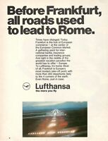1969 Original Advertising' Lufthansa German Airlines Frankfurt all Roads
